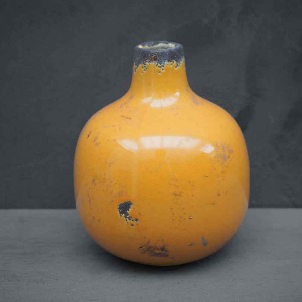 Small Ceramic Vase - Yellow